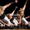 """GABE DICKENS/ P-R PHOTO<br /> Nancy Langlois School of Dance students perform a hip-hop dance to Ludacris's """"My Chick Bad"""" during their 2017 Dance Recital, directed by Susan Mossey and Nancy Langlois Gerace, in Plattsburgh High School's auditorium. This was the first of three recent recitals by the school."""