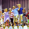 "KAYLA BREEN/ STAFF PHOTO<br /> Michelene DeBella's kindergarten class performs a dance routine to the song ""Turn"" by Zumba Kids during the class of 2029 Kindergarten Celebration at Cumberland Head Elementary School. The celebratory event featured song and dance routines by four kindergarten classes and a slideshow of pictures for parents and family to enjoy."