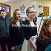 GABE DICKENS/ P-R PHOTO<br /> Students receive the red-carpet treatment as they enter the E. Glenn Giltz Auditorium on the SUNY Plattsburgh campus Friday evening for the sixth-annual I Stand Against Bullying Video Awards.