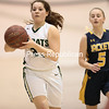 GABE DICKENS/ P-R PHOTO <br /> Northern Adirondack's Emily Peryea dribbles during a NYSPHSAA Class C girls basketball regional semifinal at the Plattsburgh State Field House.