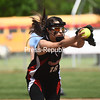 KAYLA BREEN/ STAFF PHOTO<br /> Crown Point's Shawna McIntosh delivers a pitch to a Northern Adirondack batter during Saturday's Section VII Class D championship at Cardinal Park in Plattsburgh.
