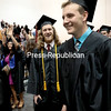 GABE DICKENS/ P-R PHOTO<br /> Soon-to-be SUNY Plattsburgh graduates head into the Field House for the afternoon session of the college's commencement in Plattsburgh Saturday afternoon. More than 1,000 graduate and undergraduate students received their degrees.