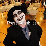 JACK LADUKE/ P-R PHOTOS Michael Deckle of Malone attended the Comic Con in that village decked out as the Batman character the Joker.