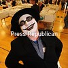 JACK LADUKE/ P-R PHOTOS<br /> Michael Deckle of Malone attended the Comic Con in that village decked out as the Batman character the Joker.