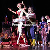 "Dancers perform in the ensemble of ""Snow."" NYC-based actor Tyler Nye as Drosselmeyer and Julianna DeChavez as the Harlequin perform during the scene ""Harlequin Doll.""<br /> GABE DICKENS/ P-R PHOTO"