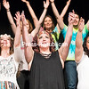 "For the finale of the musical ""Wild Thing: A 1960's Tribute"" at Clinton Community College's Stafford Theater, Clinton Community College Drama Club members perform the song ""Aquarius/Let the Sunshine In"" from the hit rock musical ""Hair."" The number at the recent production concluded with cast members dancing with the audience and handing out plastic flowers. ""Wild Thing"" featured direction and choreography by Jackie Robertin and music direction by Kaela Homburger.<br /> GABE DICKENS/ P-R PHOTO"