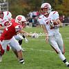 Beekmantown's Brandon Belrose (7) runs the ball up field while avoiding Saranac's Keagan Wood (42) during Champlain Valley Athletic Conference football Saturday in Saranac.<br /> KAYLA BREEN/ STAFF PHOTO
