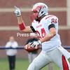 Evan Burnell celebrates a touchdown catch in the second quarter.<br /> GABE DICKENS/ P-R PHOTO