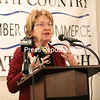 Sen. Betty Little talks at the North Country Chamber of Commerce Legislative Forum. She thinks that allowing higher cell towers would boost service in the region.<br /> KAYLA BREEN/ STAFF PHOTO