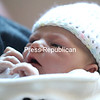 Newborn Skylar Rose Witherbee rests in her father's arms Monday at University of Vermont Health Network, Champlain Valley Physicians Hospital, in Plattsburgh.<br /> KAYLA BREEN/ STAFF PHOTO