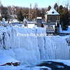 Ausable Chasm, a beautiful spot to visit in the summer, is even more spectacular in the winter when freezing temperatures turn it into a frozen work of art. This view is from the bridge over the Ausable River on Route 9; Ausable Chasm is located near the hamlet of Keeseville in the Town of AuSable.<br /> JOANNE KENNEDY/ P-R PHOTO