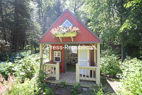 """The Gardenista's old garden shed is now a guest room in miniature. """"It's a great place to read and take a nap, too,"""" she said. KAYLA BREEN/ Staff photo"""