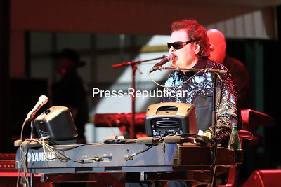 """Country music star Ronnie Milsap sings his hit song """"Smokey Mountain Rain"""" to a lively crowd Wednesday night during """"An Evening With Ronnie Milsap"""" on the Glenn Gillespie Stage at the 70th-annual Clinton County Fair in Morrisonville. Milsap has earned 40 No. 1 country music hits and won six Grammy Awards throughout his musical career and was inducted into the Country Music Hall of Fame in 2014. KAYLA BREEN/ Staff Photo"""