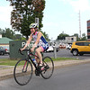 Women on Wheels of the North Country founder Kim Manion takes a spin on her road bike in Plattsburgh.<br /> KAYLA BREEN/ Staff photo