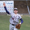 AuSable Valley pitcher Kaleb Walton throws over to first base during a Champlain Valley Athletic Conference baseball game Tuesday in AuSable Forks.<br /> KAYLA BREEN/ STAFF PHOTO