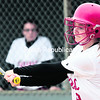 Saranac's Emma Webster takes a rip at a pitch during Tuesday's Champlain Valley Athletic Conference softball matchup against Plattsburgh at South Acres Park in Plattsburgh. The Chiefs rallied for an 8-1 win in 10 innings.<br><br>(GABE DICKENS/P-R PHOTO)