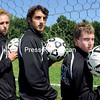 Chazy Boys Soccer team members (from left) Zach Brothers, Josh Barriere and Derek Drake.