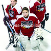 Katie Matott (from left), Taylor Laurin and Kallie Villemaire of the Beekmantown girls' hockey team. The Eagles are looking to defend their Upstate Girls' Hockey League title.<br><br>(GABE DICKENS/P-R PHOTO)