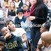 SUNY Plattsburgh student Destiny Lawson shares her views during the forum on the events in Ferguson, Mo.<br><br>(GABE DICKENS/P-R PHOTO)