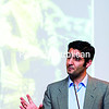 """Dr. Giancarlo Casale presents """"Columbus and the Caliphate: The Early Modern Renaissance of an Ancient Islamic Institution,"""" a recent Cron lecture at SUNY Plattsburgh.<br><br>(GABE DICKENS/P-R PHOTO)"""