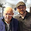 Mountain Lake PBS interactive producer Josh Clement (right) recently created an online video in which Norman Briggs (left) of Jay shares details of his life and experiences receiving services from High Peaks Hospice & Palliative Care.<br><br>(PHOTO PROVIDED)