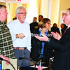 Canadian Pacific representative Randy Marsh (right) talks with Moriah Supervisor Thomas Scozzafava (center) and Ticonderoga Supervisor William Grinnell about railroad safety issues during a forum in Elizabethtown on Tuesday.<br><br>(STAFF PHOTO/LOHR McKINSTRY)