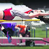 Beekmantown's Grace Kelly clears the bar during the high jump event at Saturday's Section VII Track and Field Championships in Lake Placid. Kelly won the event and helped the Eagles to a third consecutive title.<br><br>(CHRIS LENNEY/P-R PHOTO)