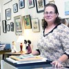 Ethel Houghton recently opened the consignment shop Chameleon, located at 50 Margaret St. in Plattsburgh, which offers artists and crafters a location to show off and sell their local, hand-crafted items, which can include anything from paintings and jewelry to upcycled furniture and food items. Houghton, an award-winning quilter who's been involved in various crafts since she was 12, is also planning to offer various events, including a wine and art night, poetry readings, individual and group lessons and more. Chameleon is open Tuesday through Saturday, 10 a.m. to 6 p.m., Sunday 11 a.m. to 4 p.m. and closed Monday. Cash, checks and major credit cards are accepted. <br><br>(GABE DICKENS/P-R PHOTO)