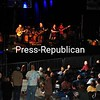 Crowds at 1932 Olympic Arena in Lake Placid sway to the music of Big Leg Emma during the recent Lake Placid Bluegrass Jam. Ten highly rated bluegrass bands played late into the night. Other prominent bands performing were Sam Bush, the Gibson Brothers and the Del McCoury Band. This was the first musical event on Olympic Regional Development Authority venues in several years.<br><br>(JACK LADUKE/P-R PHOTO)
