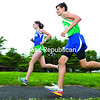 Maragaret Champagne (left) and Caleb Moore will likely be key contributors for the Seton Catholic cross country teams in 2014.<br><br>(PR Photo)