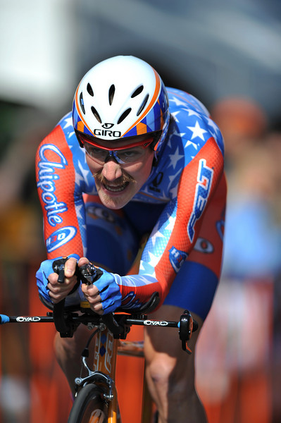 17 February 2008: David Zabriskie of the United States during the Prologue Stage of the Amgen Tour of California at Stanford University in Palo Alto, CA.