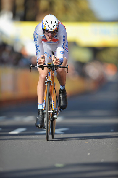 17 February 2008: David Millar of Great Britain during the Prologue Stage of the Amgen Tour of California at Stanford University in Palo Alto, CA.