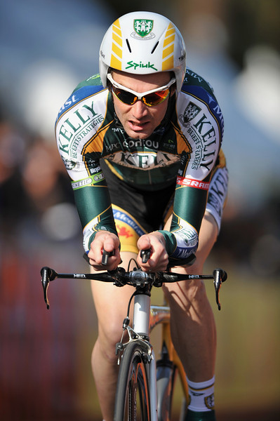 17 February 2008: Andrew Bajadali of the United States during the Prologue Stage of the Amgen Tour of California at Stanford University in Palo Alto, CA.