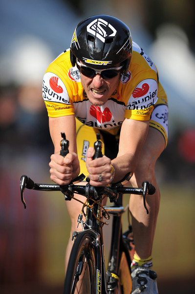 17 February 2008: David Canada Garcia of Spain during the Prologue Stage of the Amgen Tour of California at Stanford University in Palo Alto, CA.