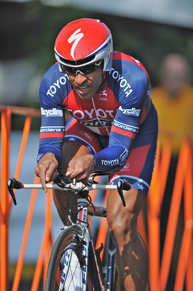 t17 February 2008: Ivan Dominguez of Cuba during the Prologue Stage of the Amgen Tour of California at Stanford University in Palo Alto, CA.