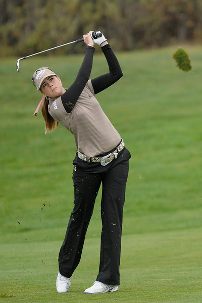 04 October 2008:  Paula Craemer (USA) from the 2nd hole fairway during the Samsung World Championship, Round 3, at the Half Moon Bay Golf Links Ocean Course in Half Moon Bay, CA.  After a third-round 68, Craemer holds a one-shot lead heading into the final round.