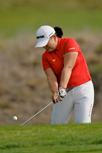 05 October 2008: Ji-Yai Shin (KOR) during the Samsung World Championship, final round, at the Half Moon Bay Golf Links Ocean Course in Half Moon Bay, CA.