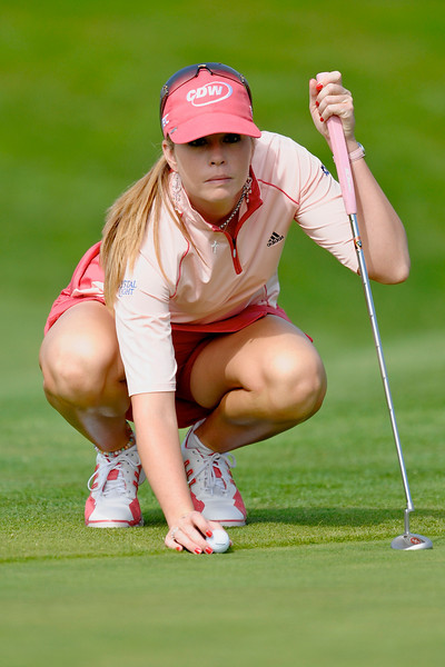 05 October 2008: Paula Craemer (USA) during the Samsung World Championship, final round, at the Half Moon Bay Golf Links Ocean Course in Half Moon Bay, CA.  Craemer won the event by one stroke with a final round 69 for a total tournament score of 269.