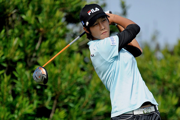 05 October 2008: Song-Hee Kim (KOR) during the Samsung World Championship, final round, at the Half Moon Bay Golf Links Ocean Course in Half Moon Bay, CA.  Kim finished in second place, one shot back.
