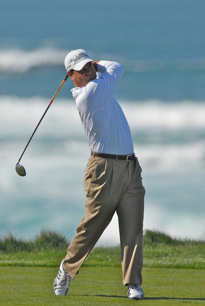 08 February 2008: Jay Williamson at the Spyglass Hill Golf Course during the third round of the AT&T Pebble Beach National Pro-Am Golf Tournament in Pebble Beach, CA.  Williamson is -5, 4 strokes back after 3 rounds.