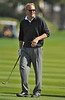 06 February 2008: Kevin Costner plays the fairway on 18 during the 3M Celebrity Challenge Shoot-Out competition at the Pebble Beach Golf Links, a preliminary event preceding the AT&T Pebble Beach National Pro-Am Golf Tournament in Pebble Beach, CA.