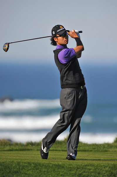 08 February 2008: Kevin Na at the Spyglass Hill Golf Course during the third round of the AT&T Pebble Beach National Pro-Am Golf Tournament in Pebble Beach, CA.  Na is -3, 6 strokes back after 3 rounds.