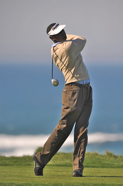 08 February 2008: Vijay Singh of Fiji at the Spyglass Hill Golf Course during the third round of the AT&T Pebble Beach National Pro-Am Golf Tournament in Pebble Beach, CA.  Singh is -9, tied for the lead with Dudley Hart after 3 rounds.