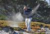 08 February 2008: ESPN's Chris Berman digs a ball out of the sand and lands it a short putt from the pin at the Spyglass Hill Golf Course during the third round of the AT&T Pebble Beach National Pro-Am Golf Tournament in Pebble Beach, CA.