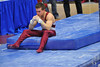 18 April 2008:  Oklahoma's Jonathan Horton contemplates a fall off the high bar during the 2008 NCAA Men's Gymnastics Championships at Stanford University's Maples Pavilion in Stanford, CA.  Despite the fall, Horton led his Oklahoma Sooners to the national title and placed second in the all-around.