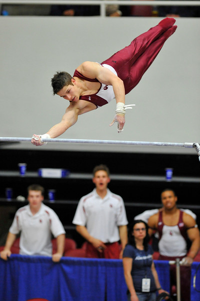 18 April 2008:  Oklahoma's Chris Brooks during the 2008 NCAA Men's Gymnastics Championships at Stanford University's Maples Pavilion in Stanford, CA.