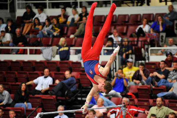18 April 2008:  University of Illinois-Chicago's Andrew Stover during the 2008 NCAA Men's Gymnastics Championships at Stanford University's Maples Pavilion in Stanford, CA.