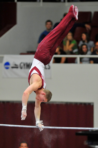 18 April 2008:  Oklahoma's Steven Legendre during the 2008 NCAA Men's Gymnastics Championships at Stanford University's Maples Pavilion in Stanford, CA.