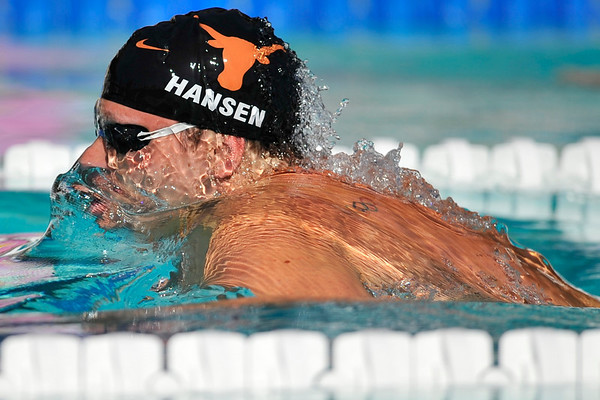 18 May 2008: World record holder Brendan Hansen during the during the XLI Santa Clara International Invitational Men's 200 meter breaststroke preliminaries at the Santa Clara Swim Club in Santa Clara, CA.