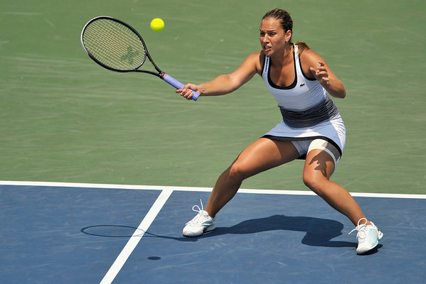 16 July 2008:  Dominika Cibulkova of Slovakia during her 6-2, 6-3 victory over Kateryna Bondarenko of Ukraine in their second round singles match at the Bank of the West Classic in Stanford, CA.